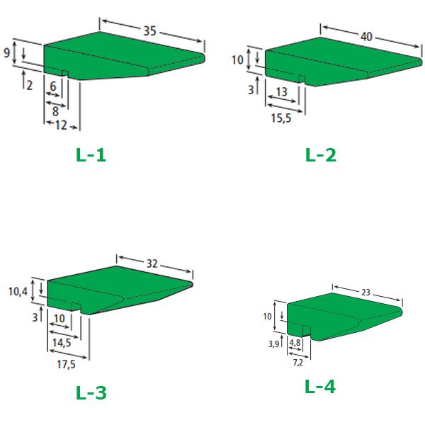 Şişe Hava konveyörü profili, Konveyör sürtünme profilleri